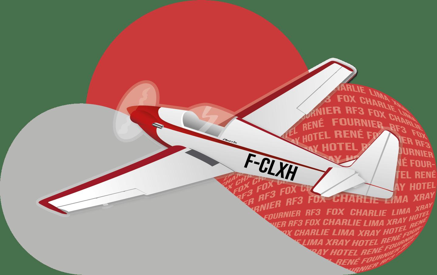 Logo avion RF3 de Vincent Barelli
