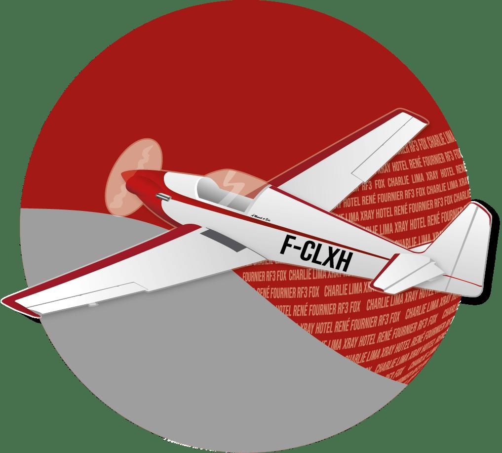 Logo Rond avion RF3 de Vincent Barelli