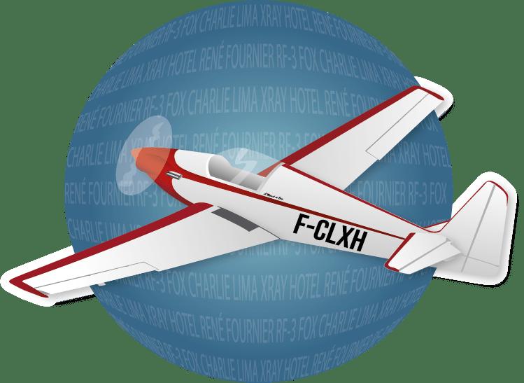 Logo Rond bleu avion RF3 de Vincent Barelli